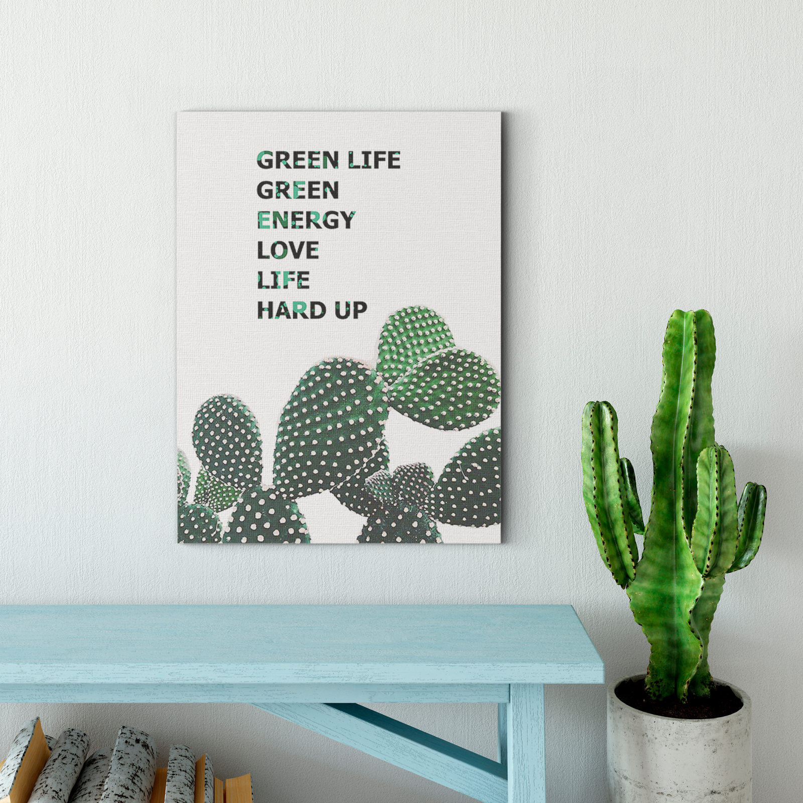 Green cactus plant decoration painting 007