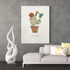 Cute little succulents decorative painting 001