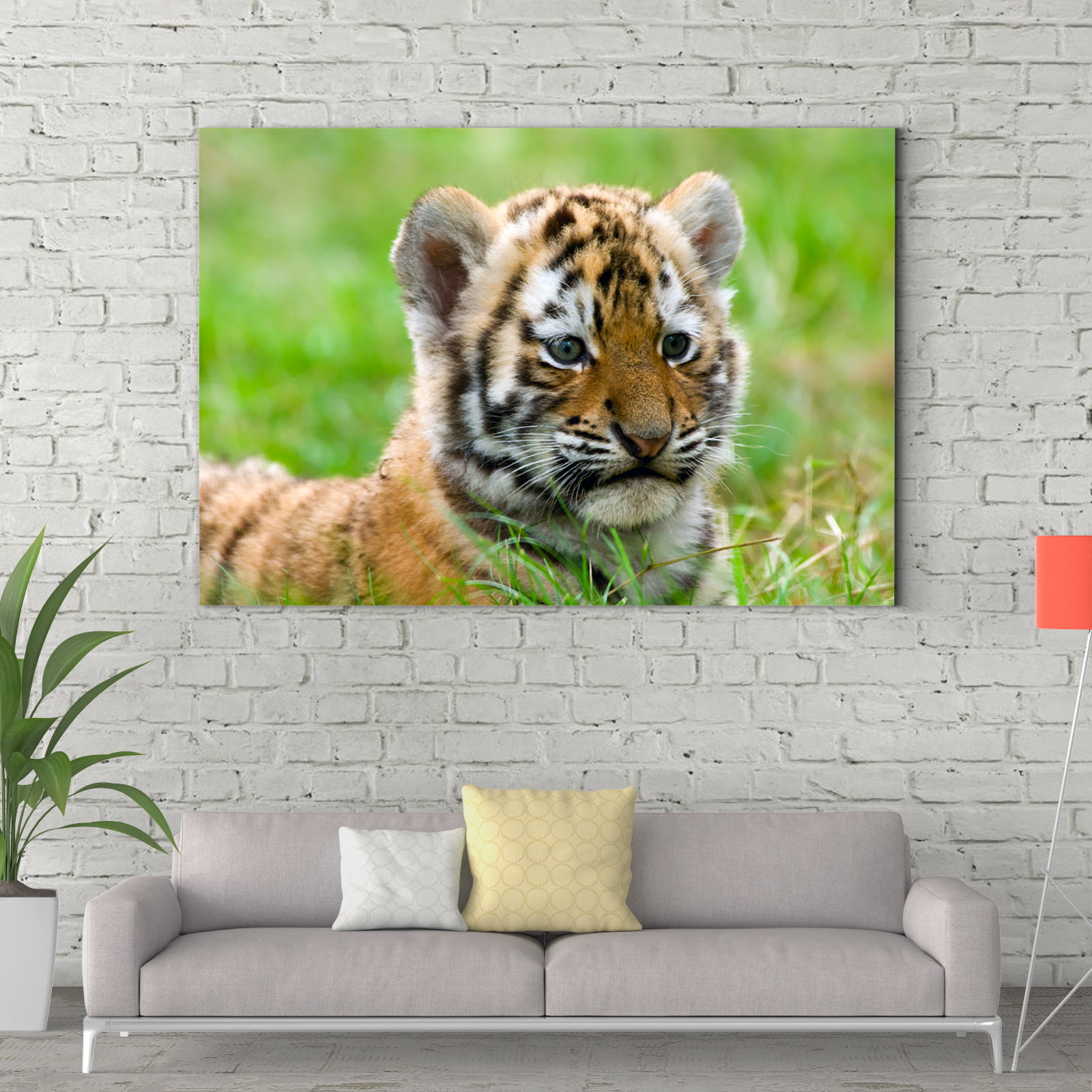 Tiger looking far away animal decoration painting 024