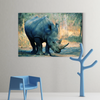Strong rhinoceros animal decoration painting 057