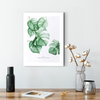 Beautiful Nordic green leaf decorative painting 001
