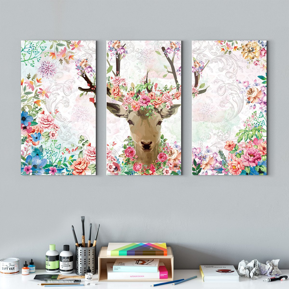 A deer - animal decoration painting for living room