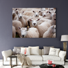 Cute sheep animal decoration painting 036