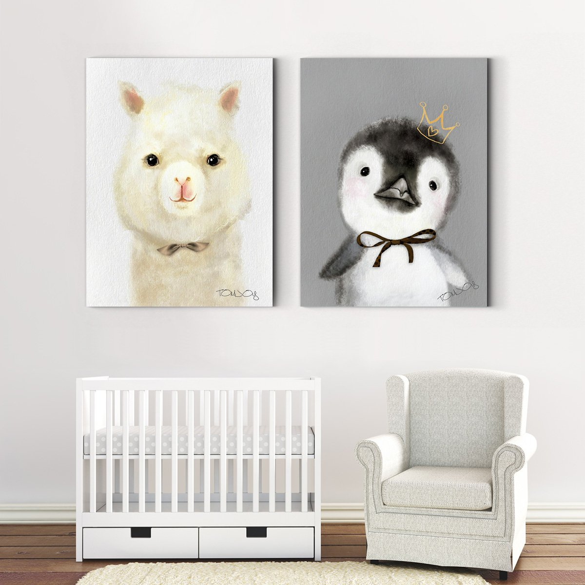Cute cartoon pets - animal decorative painting - living room double A