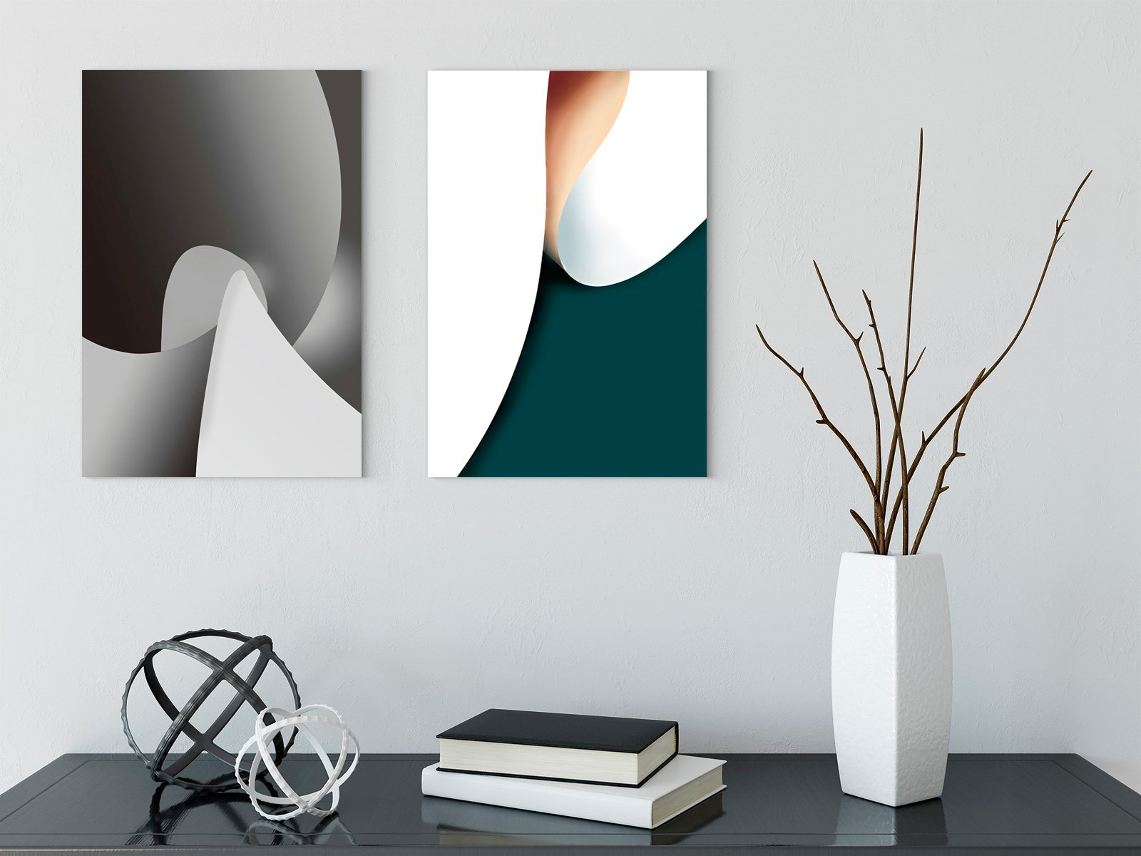 Color rhythm - abstract decorative painting - living room double A