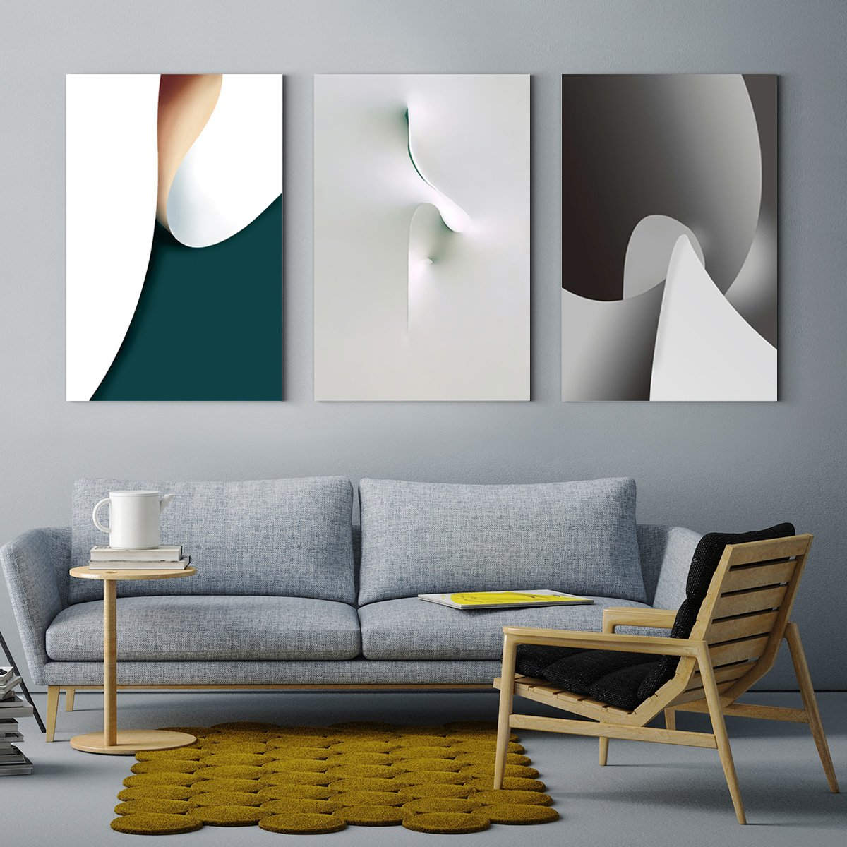 Color rhythm - abstract decorative painting - living room three A