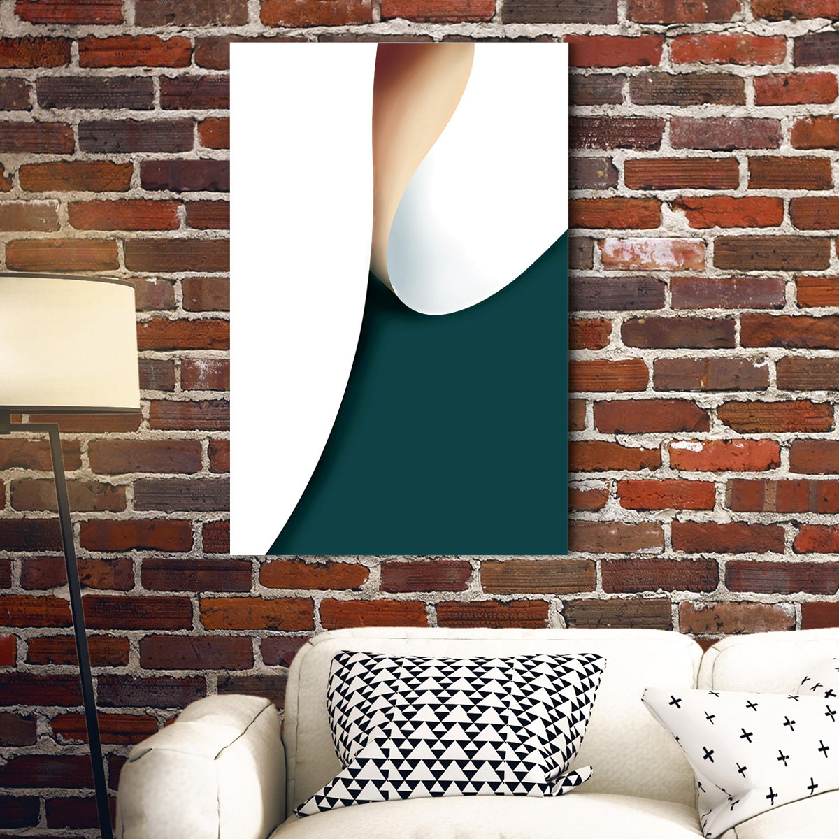Color rhythm - abstract decorative painting - living room 002