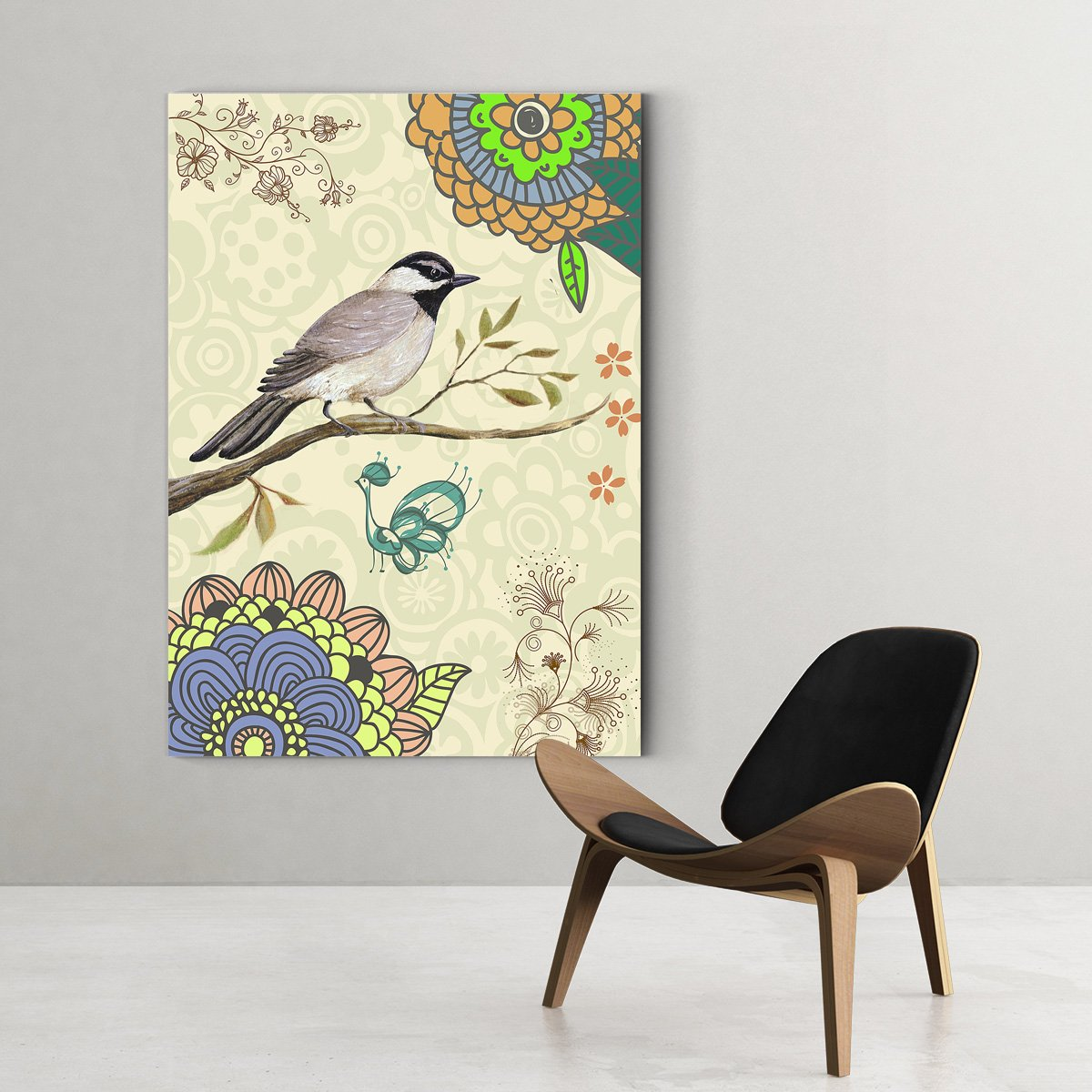 Colorful Bird Animal decorative painting - living room B