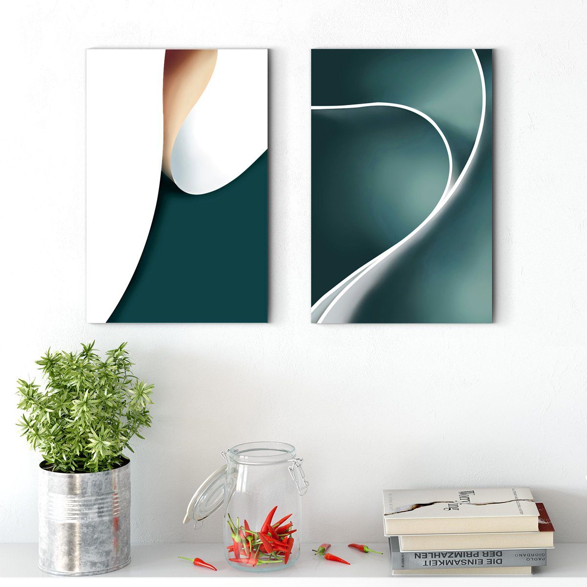 Color rhythm - abstract decorative painting - living room double B