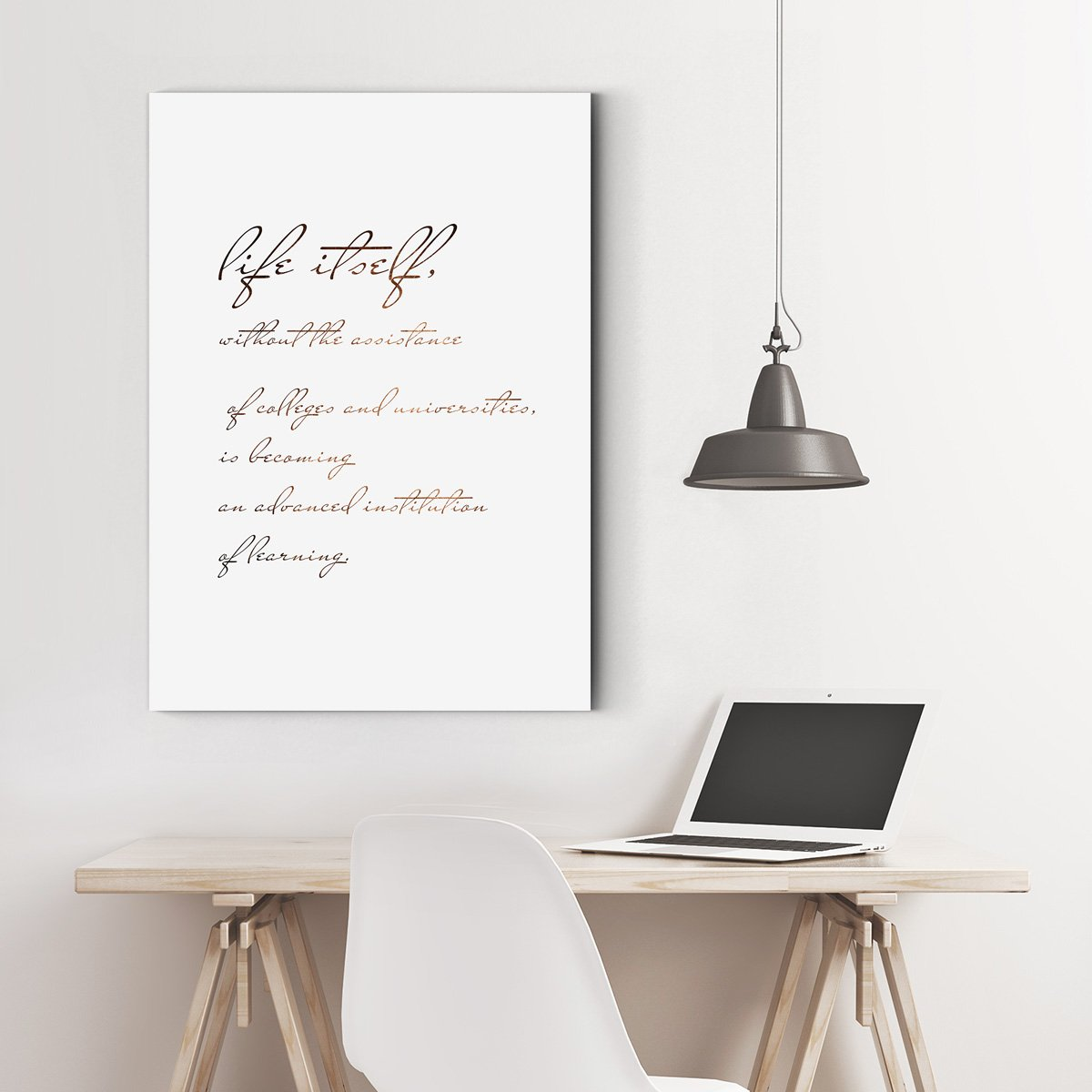 Contracted and lovely wind - abstract adornment picture - sitting room - English letter