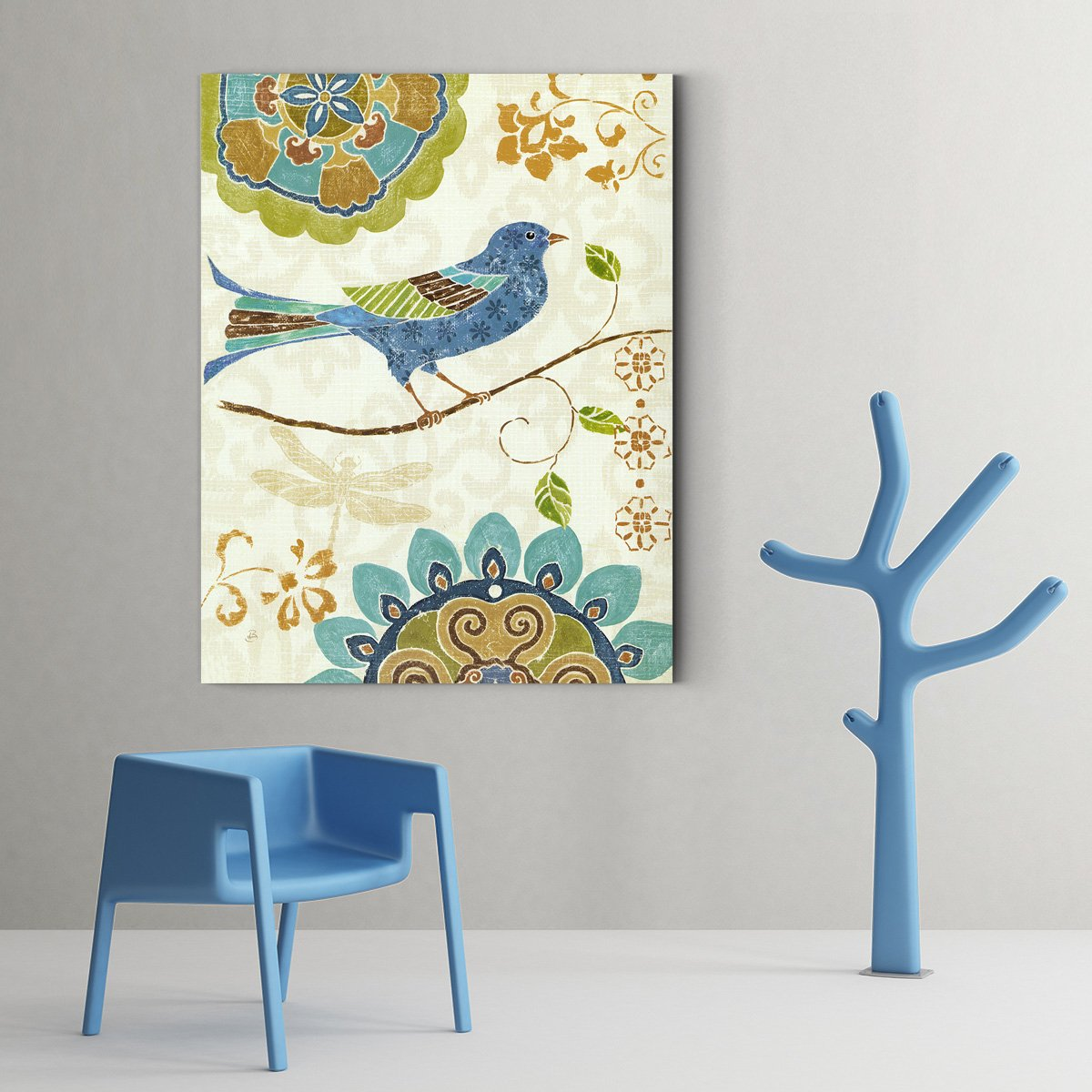 Colorful Bird Animal decorative painting - living room C