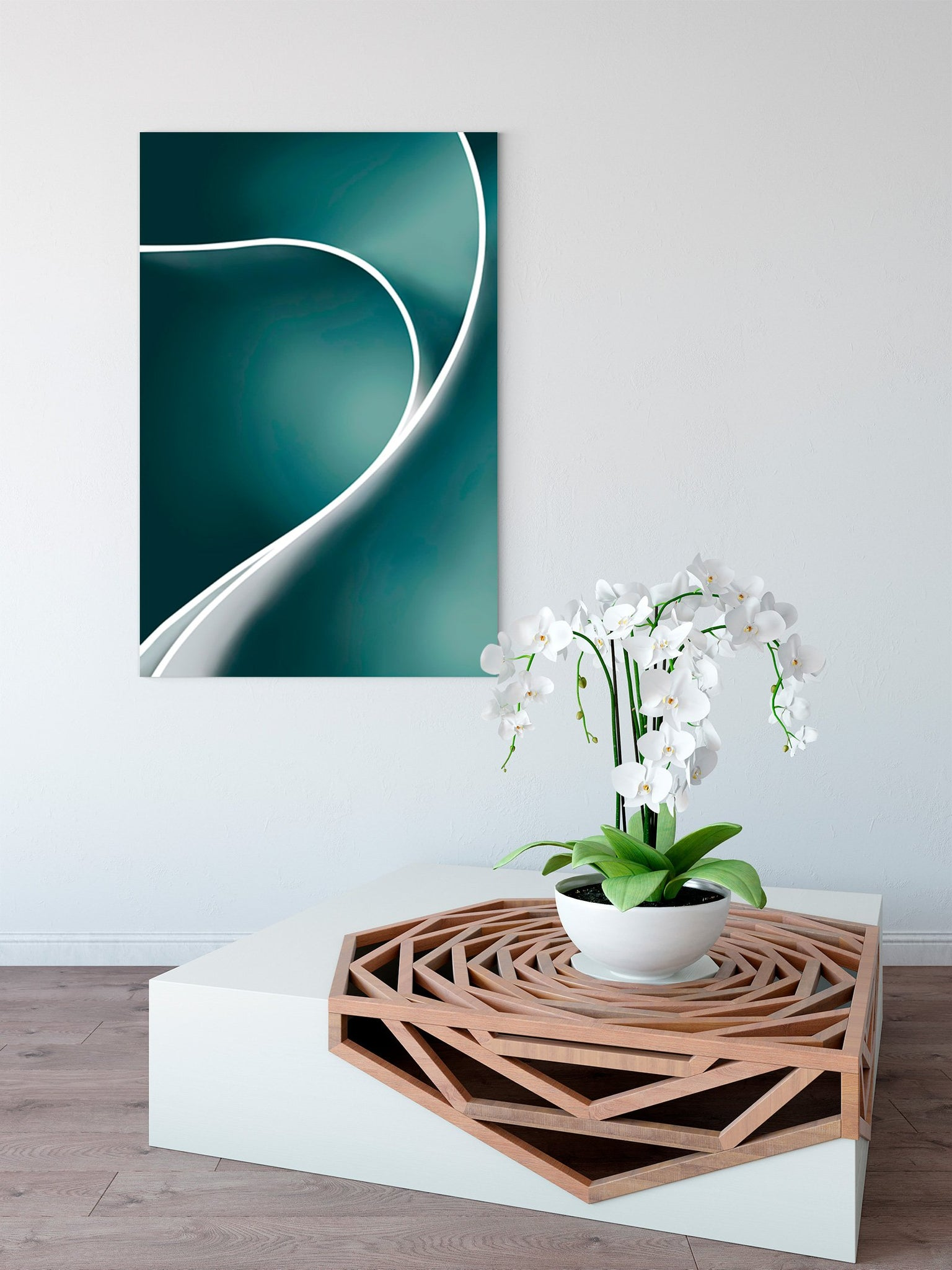 Color rhythm - abstract decorative painting - living room 003