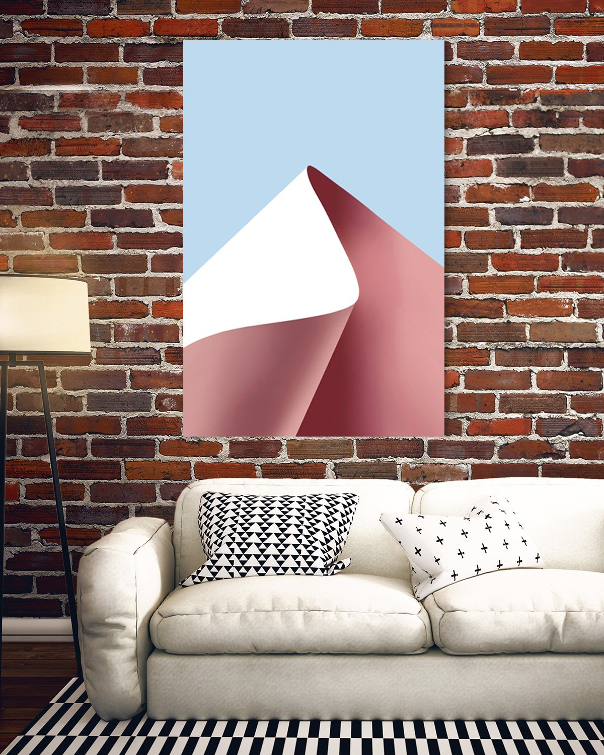 Color rhythm - abstract decorative painting - living room 005