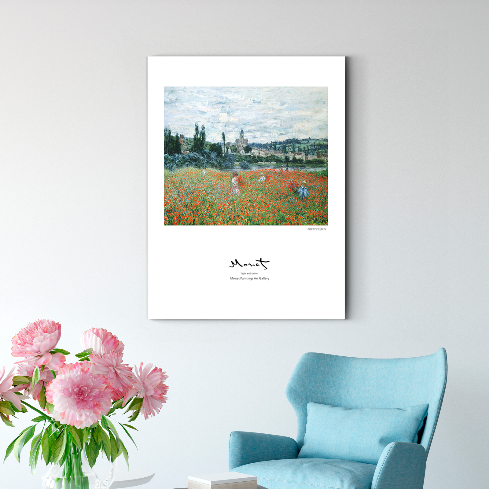 Monet POPPY FIELD Decorative paintings 005