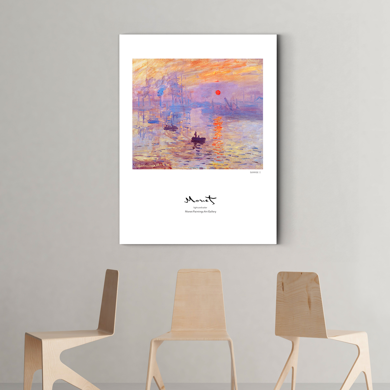 Monet SUNRISE Decorative paintings 002