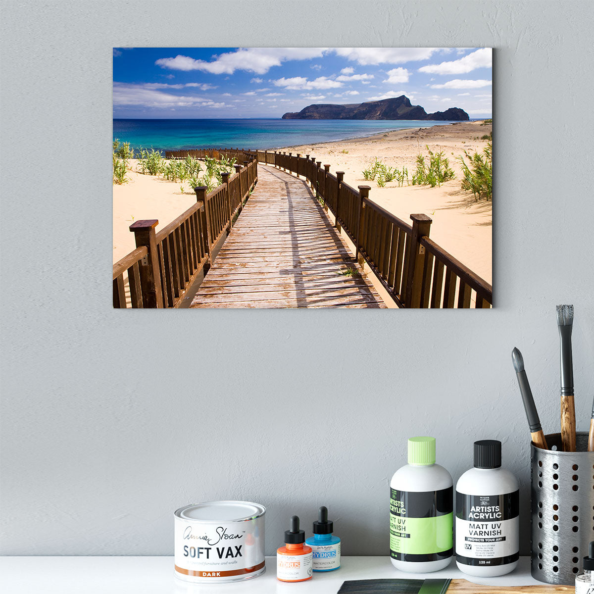 Trestle on the beach Decorating Print 307
