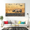Strong rhinoceros animal decorative painting 072