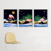 Beautiful flamingo animal Multi Panel Wall Art 001