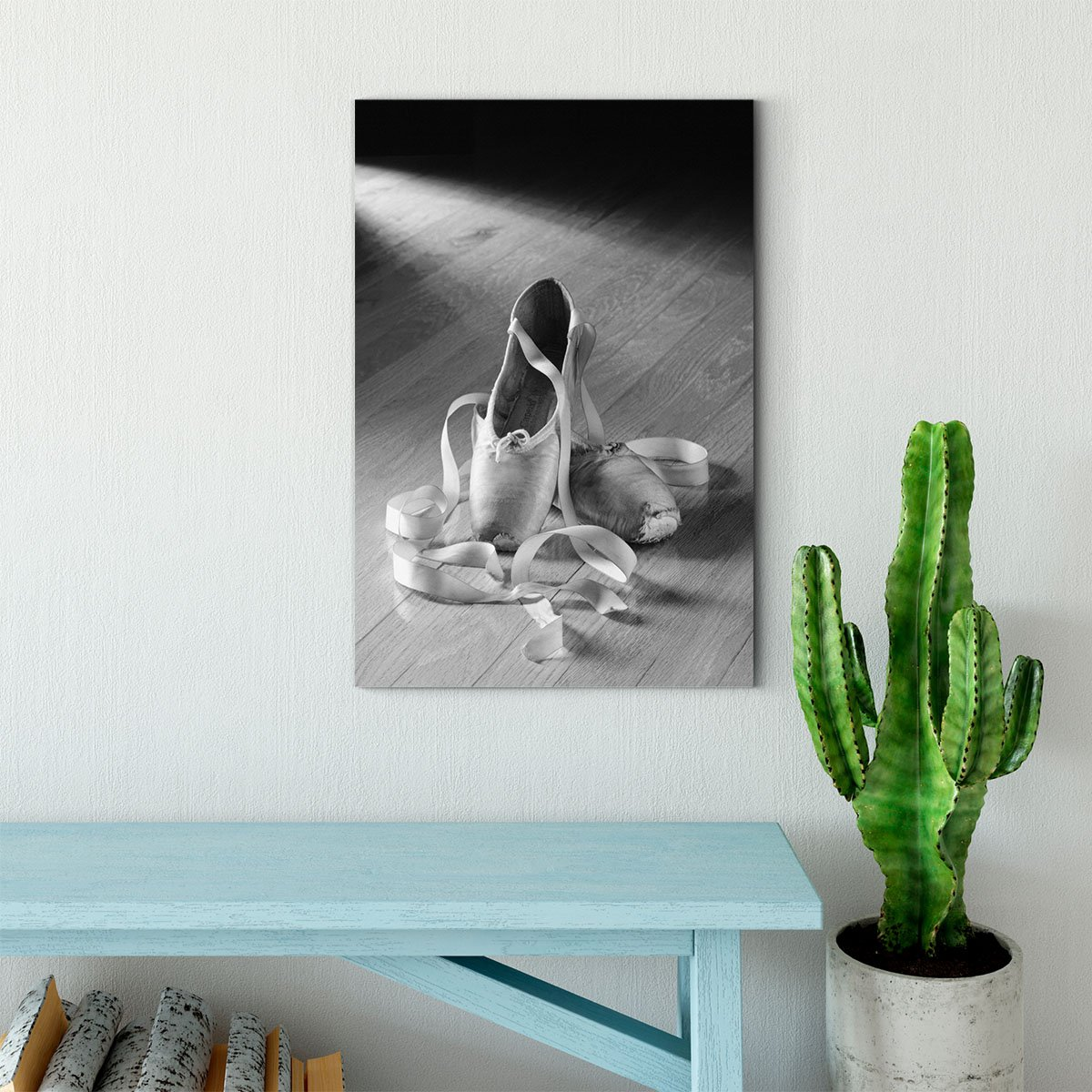 ballet shoes black and white decorative painting 035