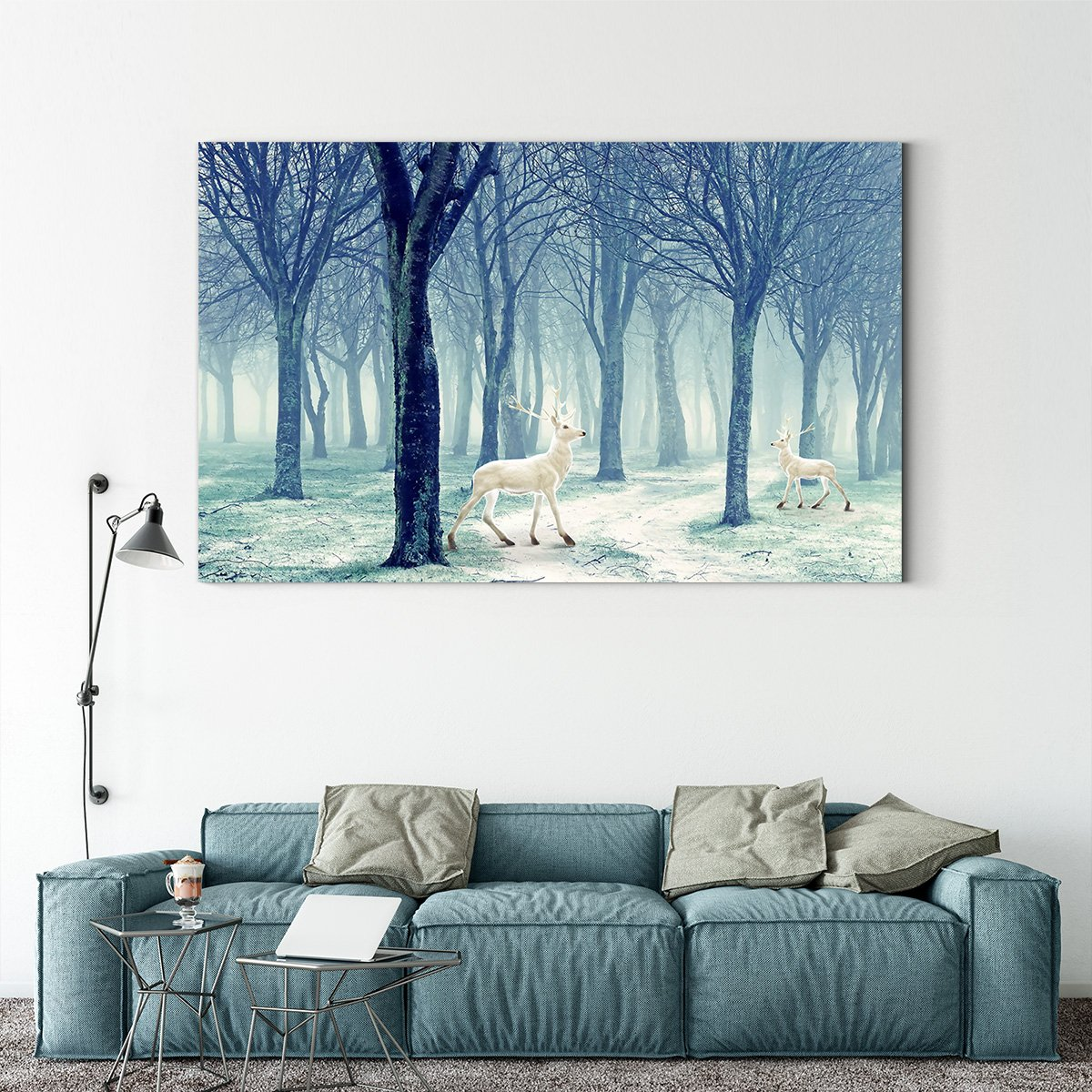 Jane Europe elk forest - animal decorative painting - living room