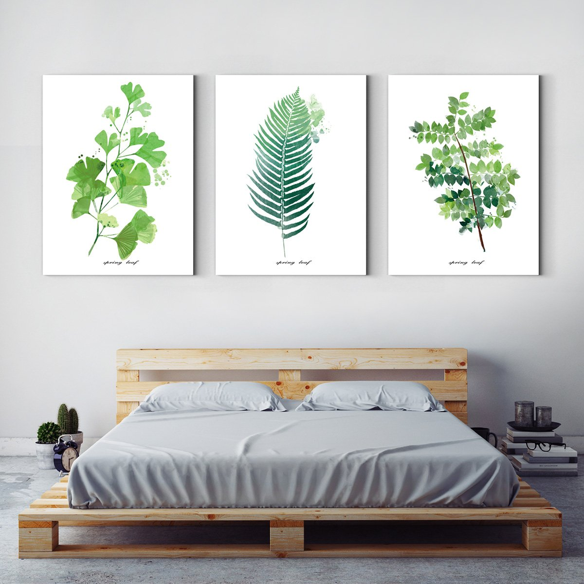 Green leaf plant decorates drawing room - Multi Panel Wall Art