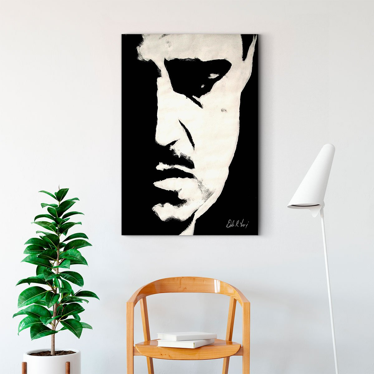 Marlon Brando The God Father black and white decorative painting 021