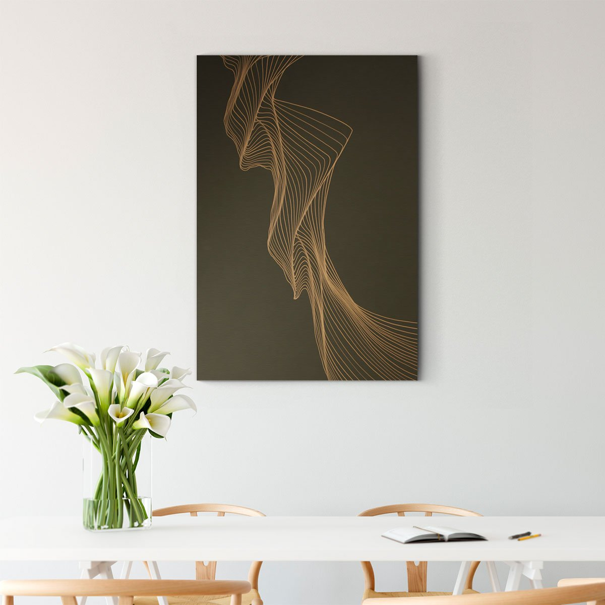 Rotating lines abstract decorative painting 001
