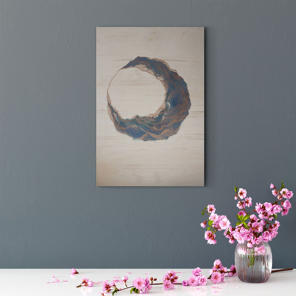 Blue moon abstract decorative painting 001
