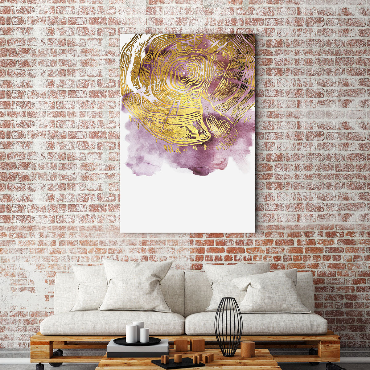 Gentle blooming abstract decorative painting 003