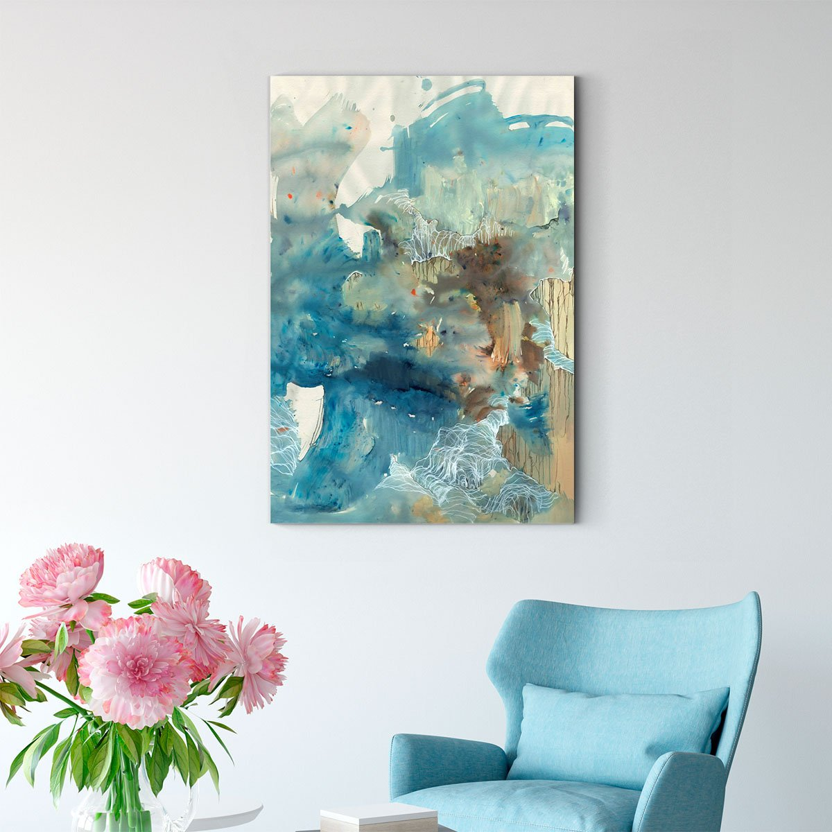 Beautiful color block abstract decorative picture 002