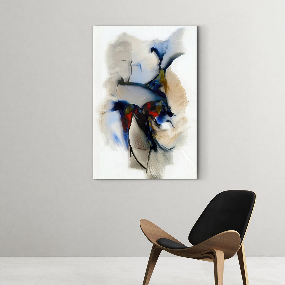 Beautiful color block abstract decorative picture 001