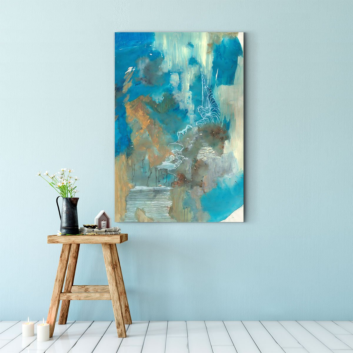 Beautiful color block abstract decorative picture 003