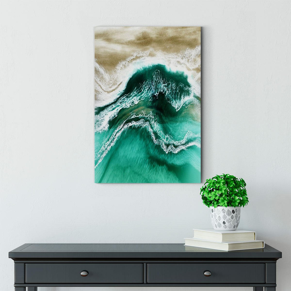 Blue ocean abstract decorative painting 0013