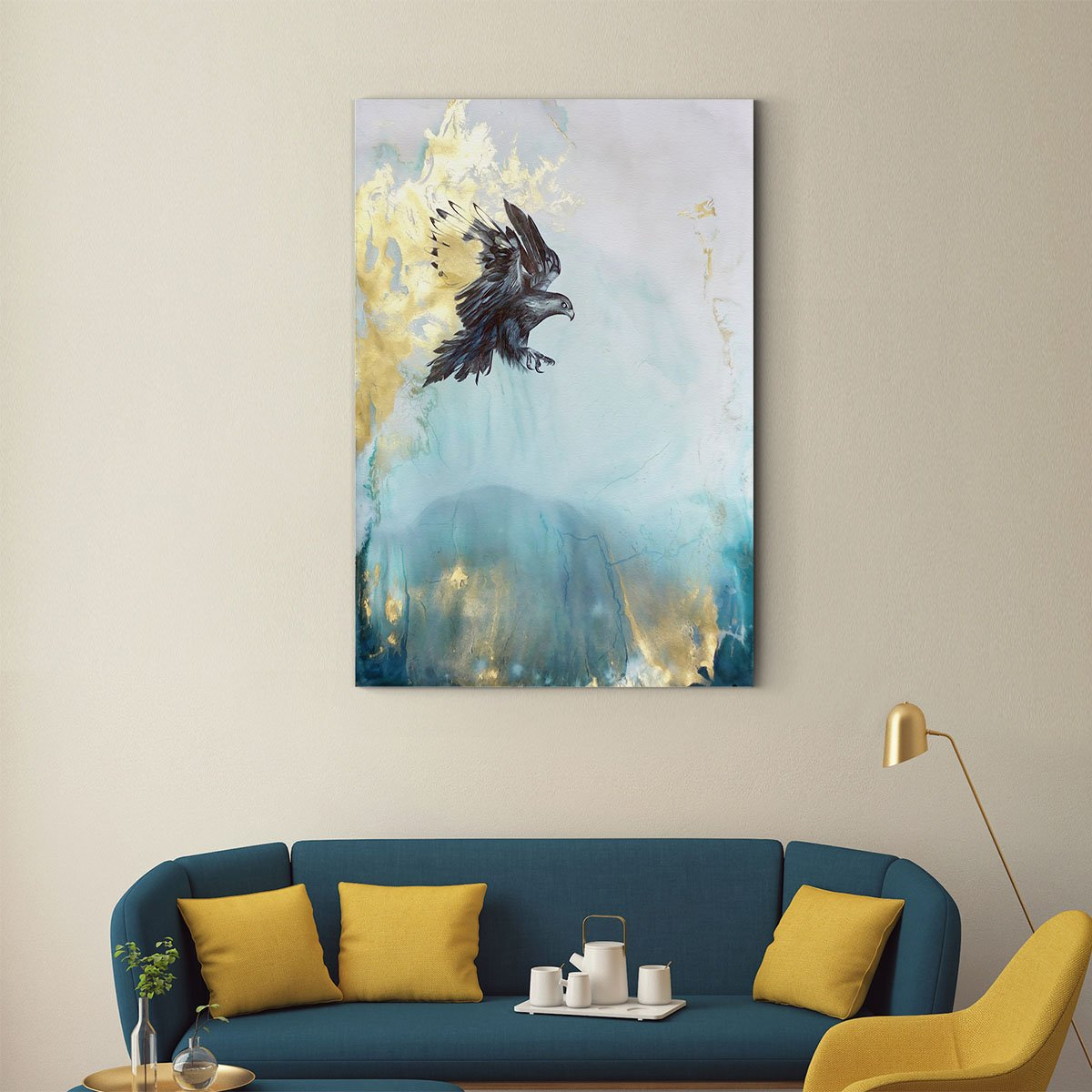 Soaring eagle abstract decorative painting 001
