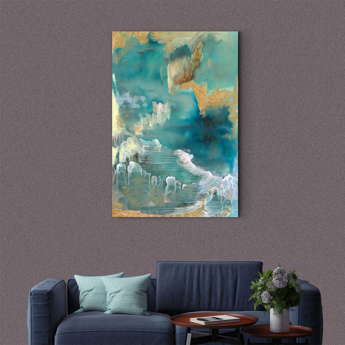 Rough waves abstract decorative painting 005