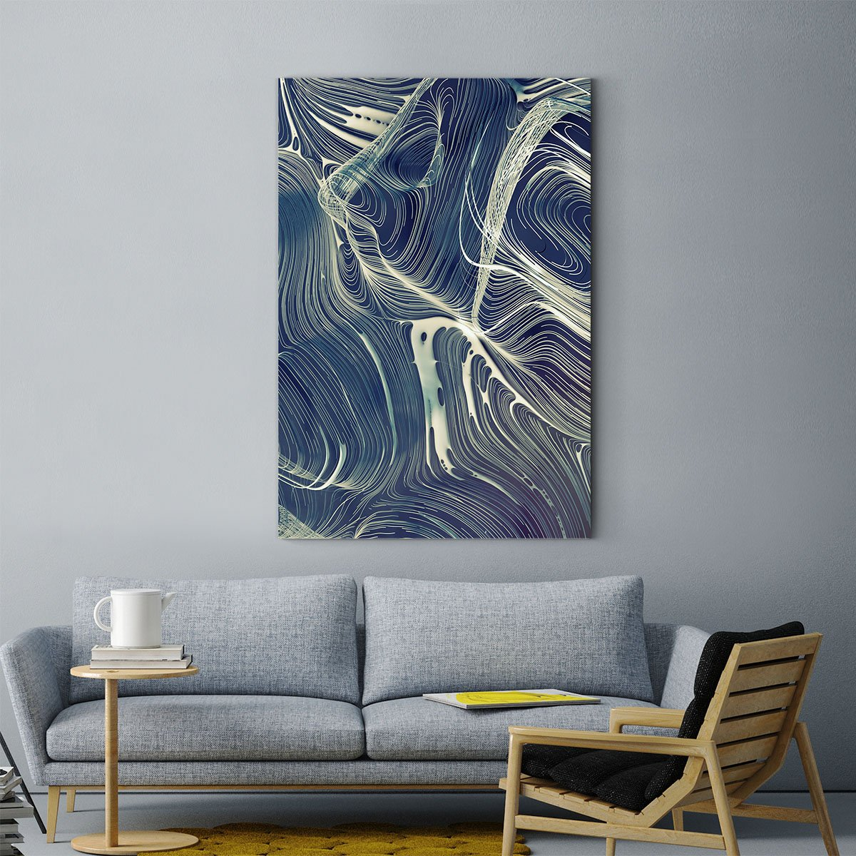 Dancing lines abstract decorative painting 005