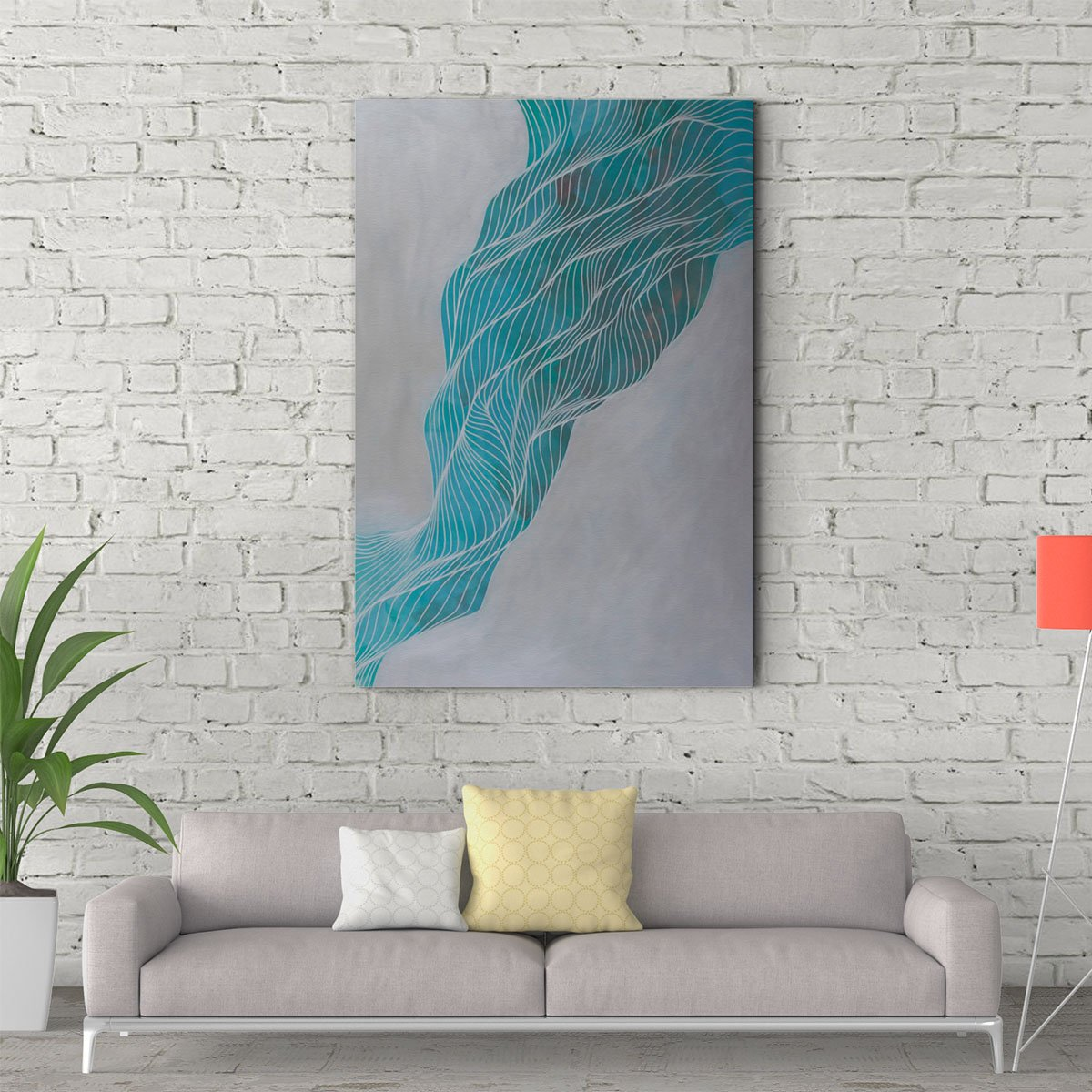 Dancing lines abstract decorative painting 001