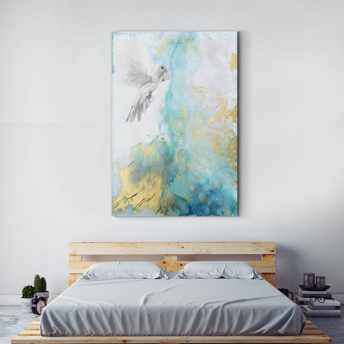 Flying dove abstract decorative painting 001