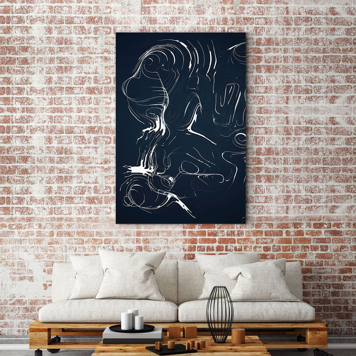 Elegant lines abstract decorative painting 003