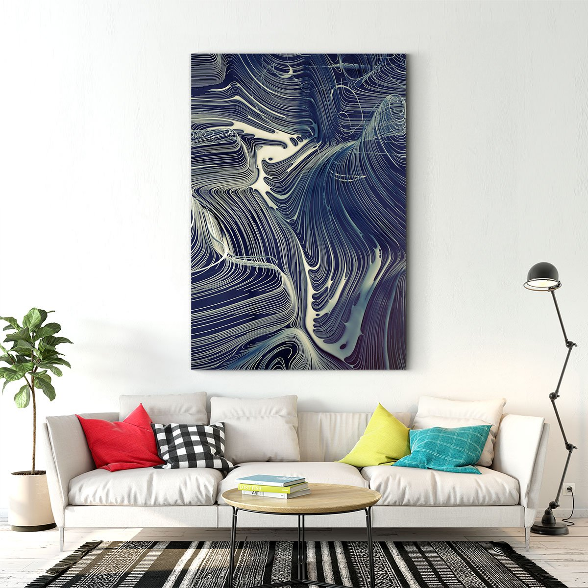 Elegant lines abstract decorative painting 009