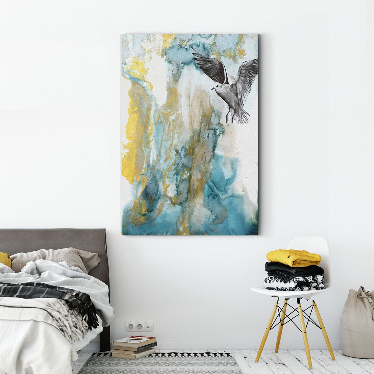 Soaring eagle abstract decorative painting 002