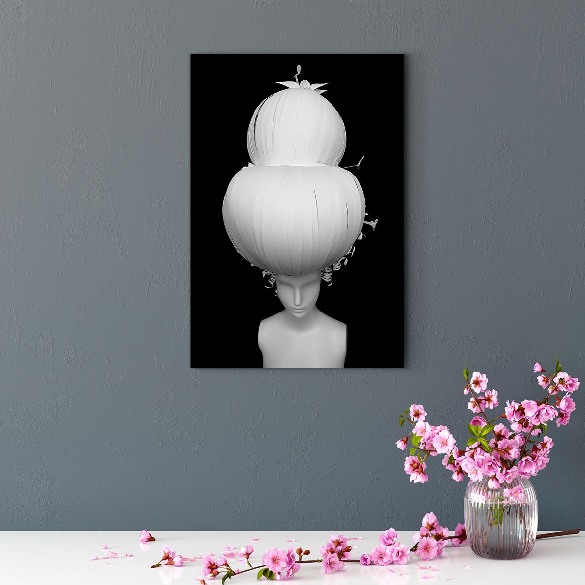 Silent statue character decorative painting 003