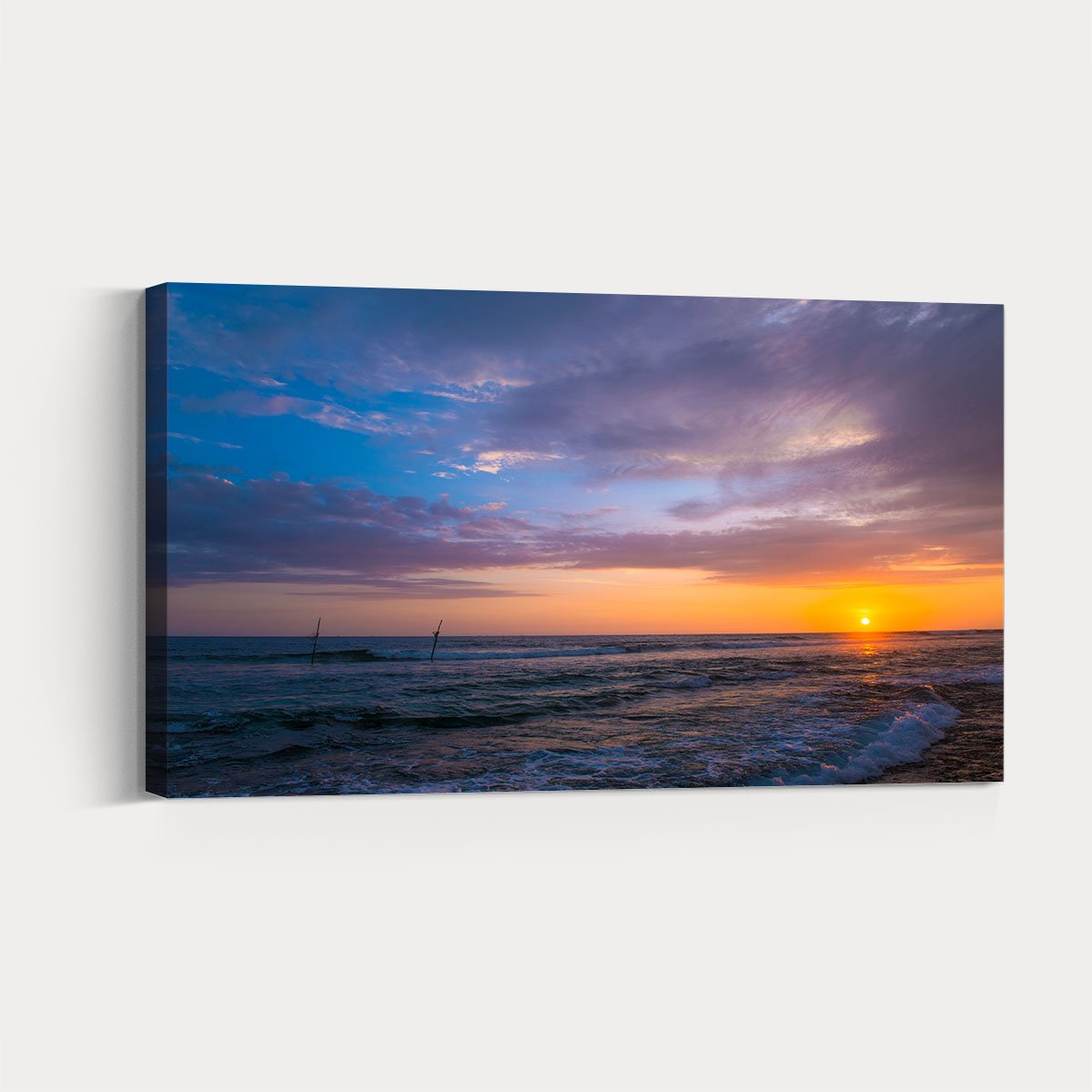 Beautiful sunset on the sea at sunset Canvas Print 134
