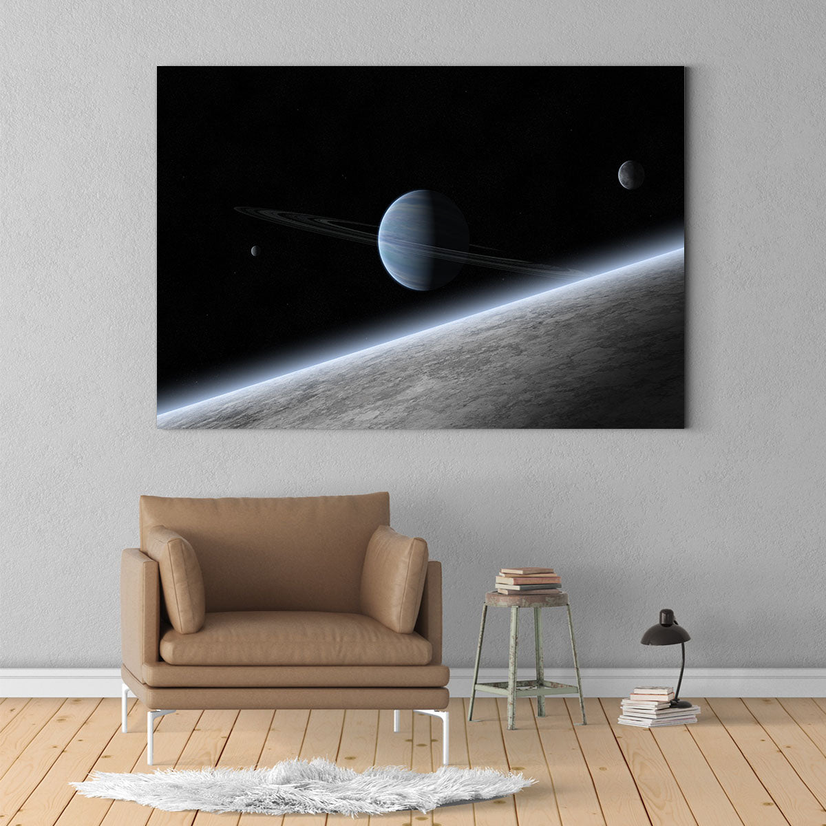 Two planets decorative painting 002