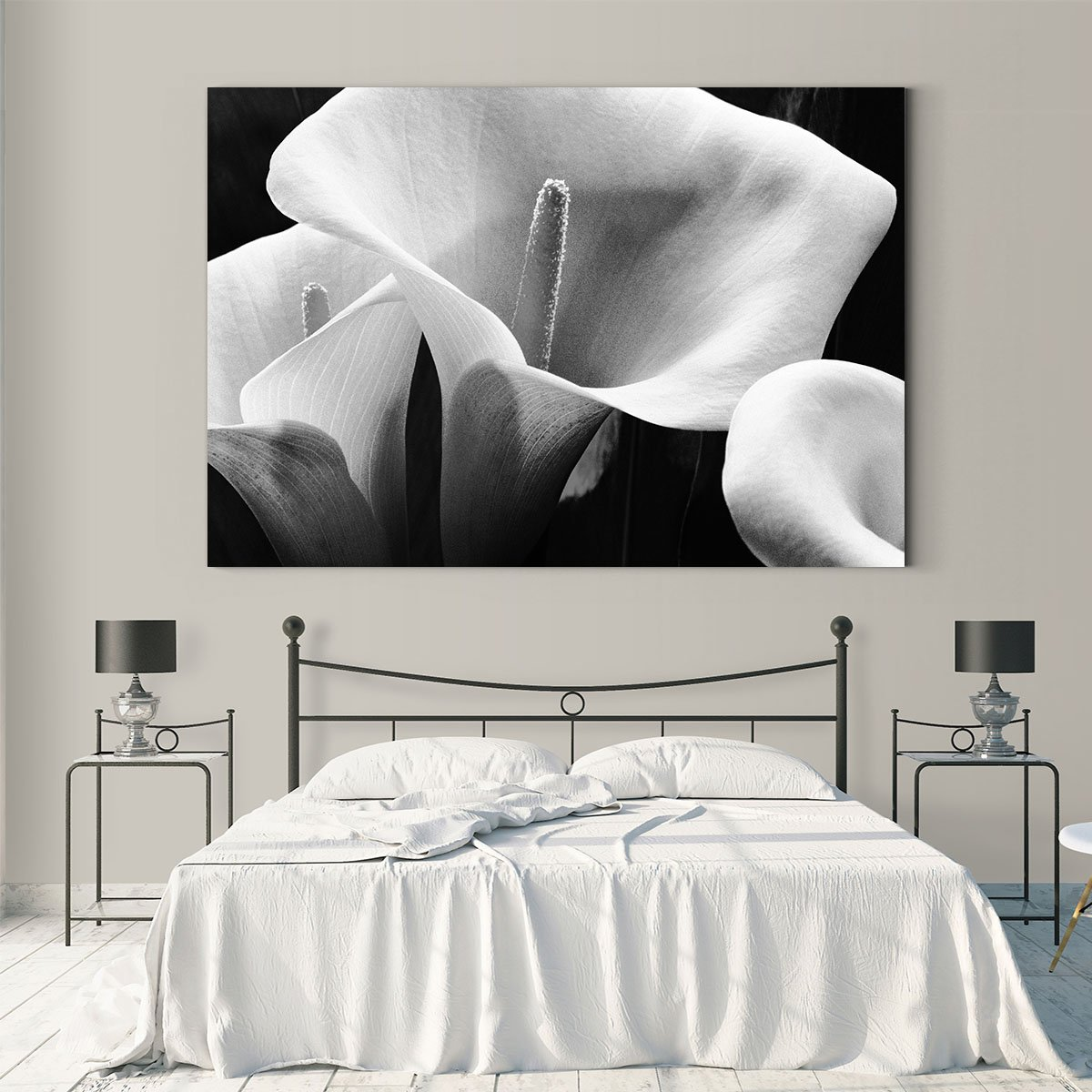 Blooming flowers still life decorative painting 001