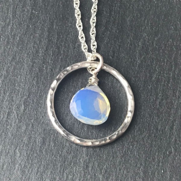 Opalite Hoop Necklace