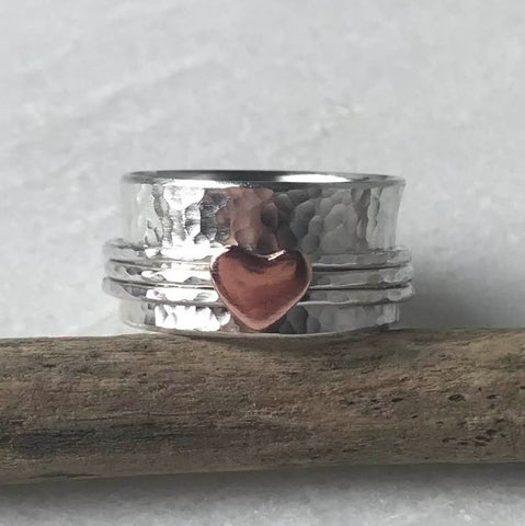 Copper Heart Spinning Ring