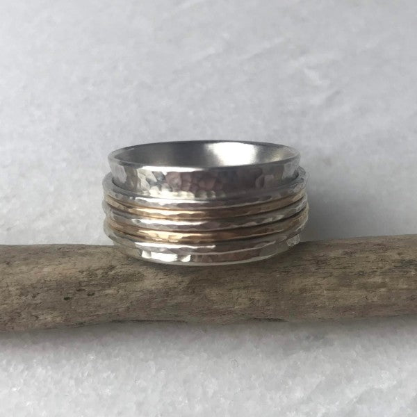 Gold Fill and Silver Spinning Ring