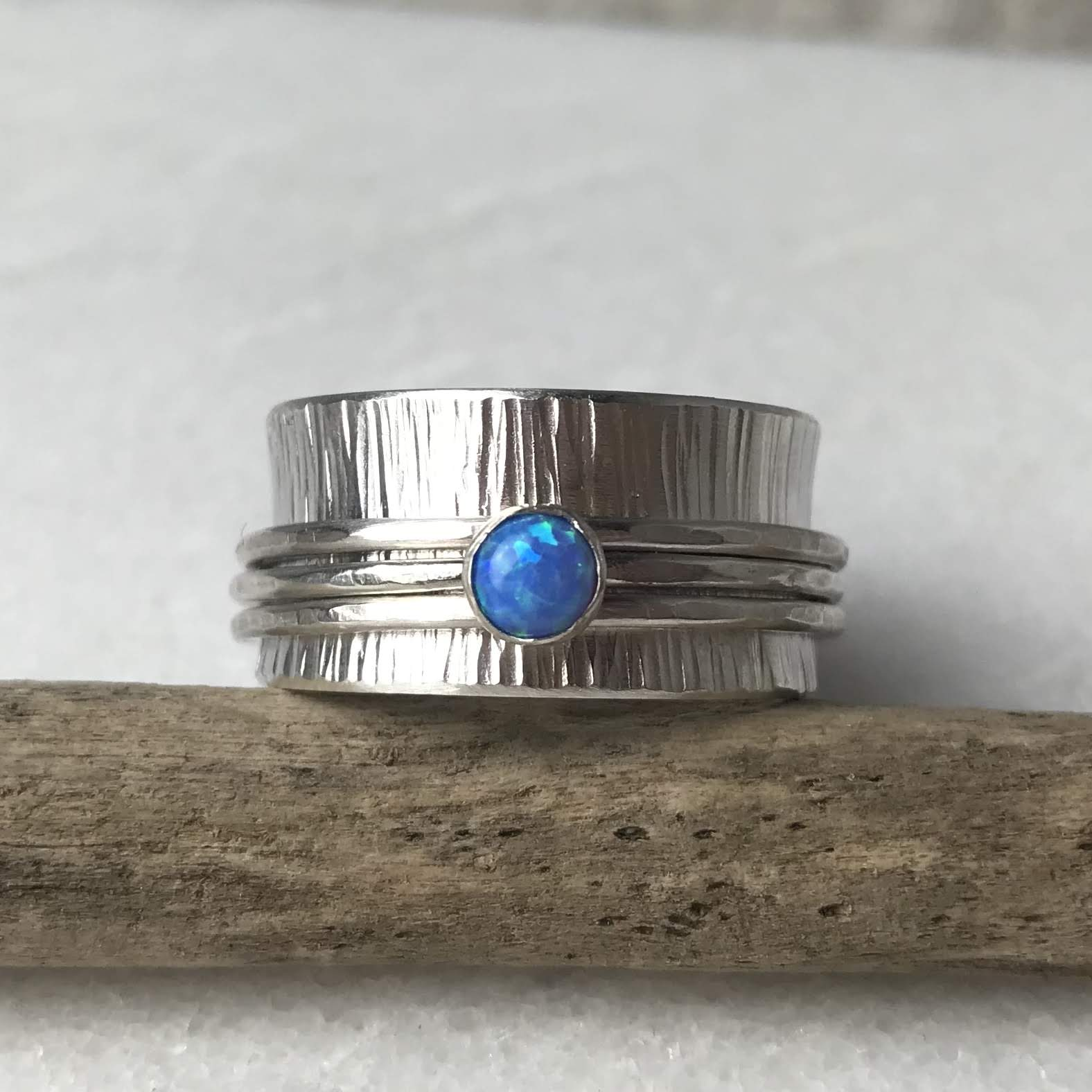 Blue Opal Spinning Ring