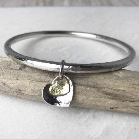 Chunky Double Heart Bangle